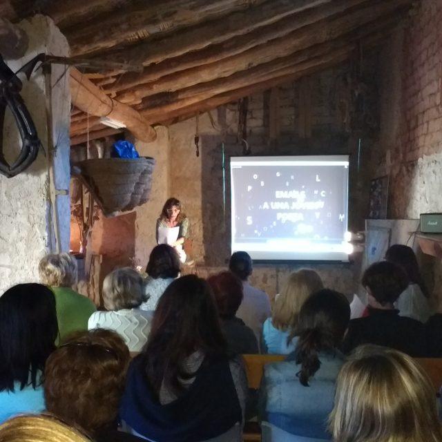 Presentación del libro EMAILS A UNA JOVEN POETA en la Paridera de Cubel