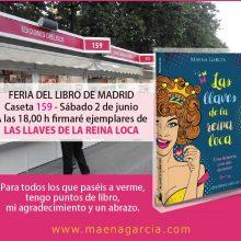 Firma de libros en la Feria del Libro de Madrid